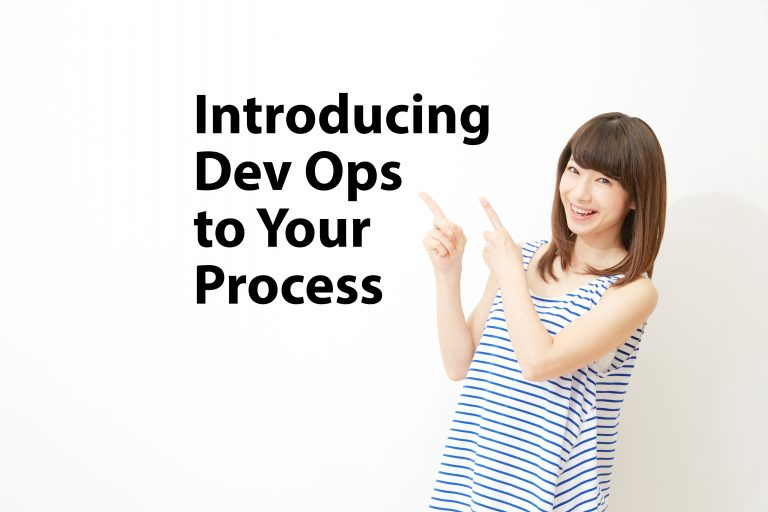 woman pointing to dev ops